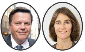 Ingemar Rindstig (EY) och Leonie Selting (Stensvik & Partners), skatte- och redovisningsseminarium den 10 juni 2020, Stensvik & Partners